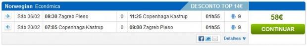 Zagreb >> Kopenhagen >> Zagreb, na rumbo.pt stranicama