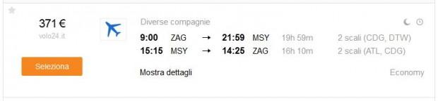 Zagreb >> New Orleans >> Zagreb