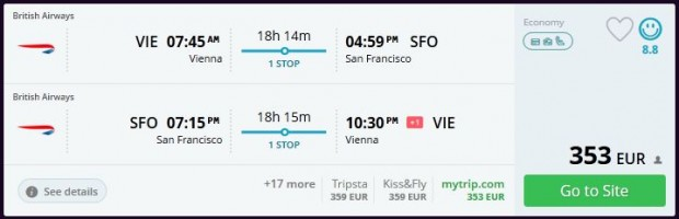 Beč >> San Francisco >> Beč