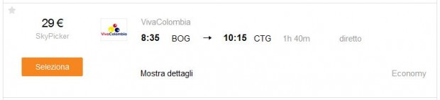 Bogota >> Cartagena