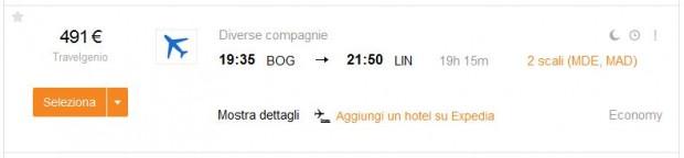 Bogota >> Milano