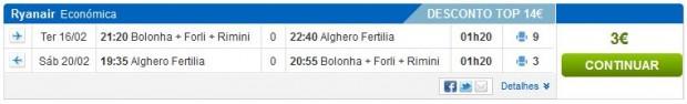 Bolonja >> Alghero >> Bolonja, na rumbo.pt stranicama