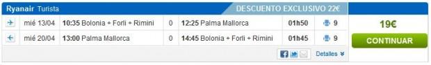 Bolonja >> Palma de Mallorca >> Bolonja, na rumbo.es stranicama
