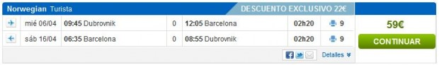 Dubrovnik >> Barcelona >> Dubrovnik