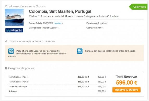 Prekooceansko krstarenje, cijena