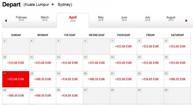 Kuala Lumpur >> Sydney