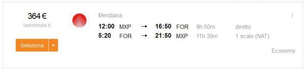 Milano >> Fortaleza (Brazil) >> Milano