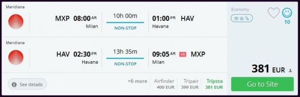 Milano >> Havana (Kuba) >> Milano