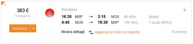 Milano >> Nosy Bee (Madagaskar) >> Milano