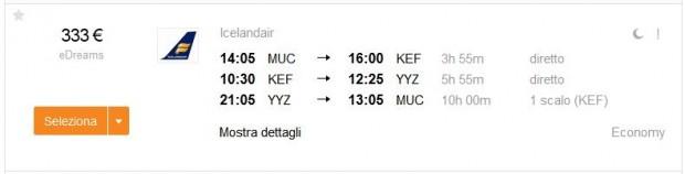 Minhen >> Reykjavik >> Toronto >> Minhen, s zadržavanjem na Islandu