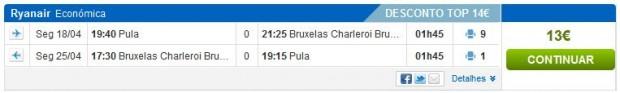 Pula >> Brisel >> Pula, na rumbo.pt stranicama