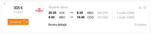 Venecija >> Nairobi >> Paris