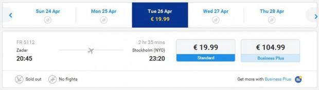 Zadar >> Stockholm