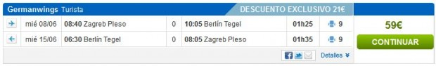 Zagreb >> Berlin >> Zagreb, na rumbo.es stranicama