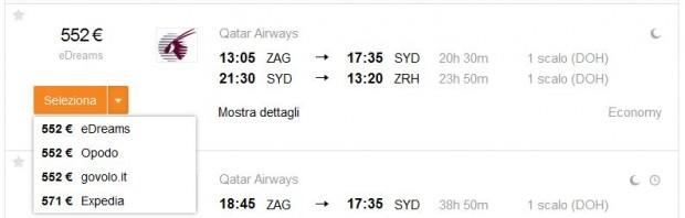 Zagreb >> Sydney >> Zurich