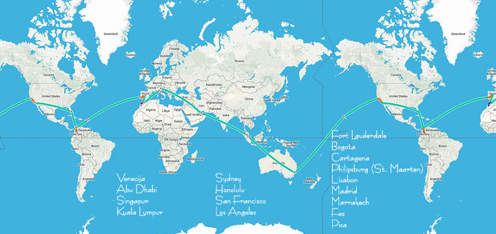 mapa sveta kontinenti Veliki put oko svijeta za samo 1345€ ukupno | Tripologia mapa sveta kontinenti