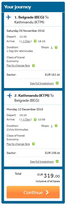 Beograd >> Kathmandu >> Beograd