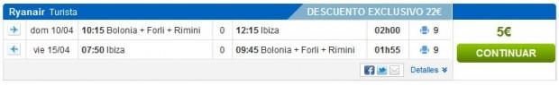 Bolonja >> Ibiza >> Bolonja