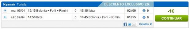 Bolonja >> Ibiza >> Bolonja, na rumbo.es stranicama, korak 1