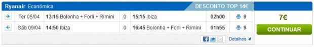 Bolonja >> Ibiza >> Bolonja, na rumbo.pt stranicama