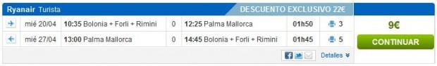 Bolonja >> Palma de Mallorca >> Bolonja