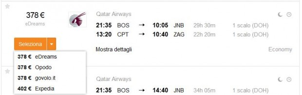 Boston >> Johannesburg -- Cape Town >> Zagreb