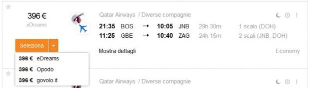 Boston >> Johannesburg -- Gaborone (Bocvana) >> Zagreb