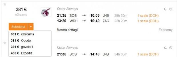 Boston >> Johannesburg -- Windhoek (Namibija) >> Zagreb