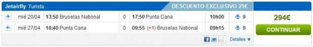 Brisel >> Punta Cana >> Brisel, na Rumbo stranicama
