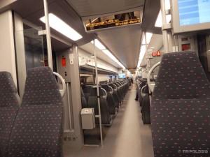 Preskup i pust vlak s aerodroma