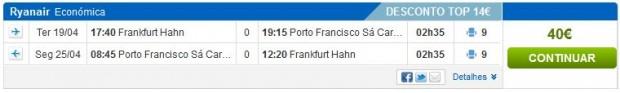 Frankfurt (Hahn) >> Porto >> Frankfurt (Hahn)