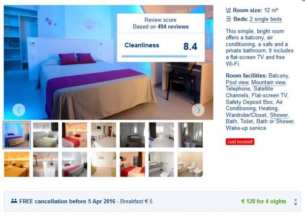 Ibiza - San Antonio, Hostal Tarba, dvokrevetna soba