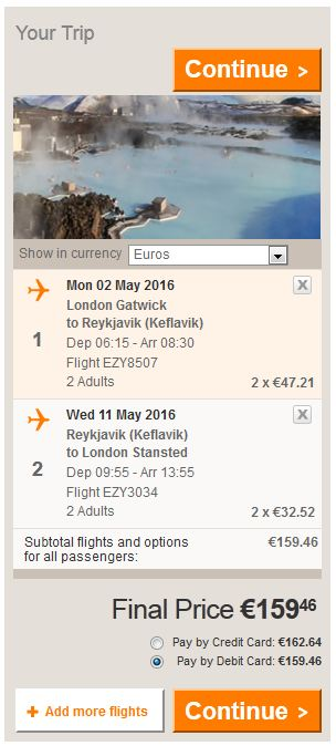 London (Gatwick) >> Reykjavik >> London (Stansted)
