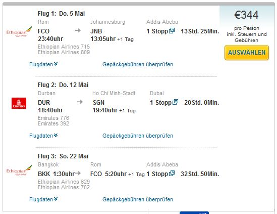 Rim >> Johannesburg + Durban >> Ho Chi Minh City + Bangkok >> Rim