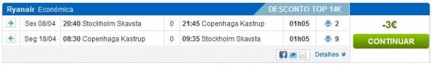 Štokholm >> Kopenhagen >> Štokholm