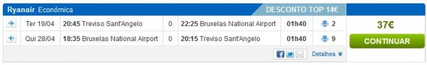 Venecija (Treviso) >> Brisel >> Venecija (Treviso), direktno na Rumbo stranicama