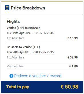 Venecija (Treviso) >> Brisel >> Venecija (Treviso), direktno na Ryanair stranicama
