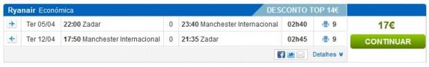 Zadar >> Manchester >> Zadar, na rumbo.pt stranicama