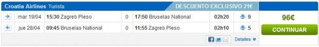 Zagreb >> Brisel >> Zagreb, na Rumbo stranicama