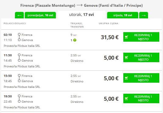 Firenca >> Genova