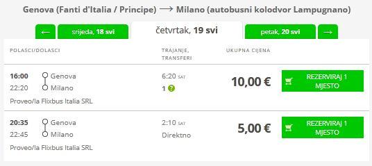 Genova >> Milano