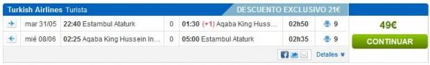 Istanbul >> Aqaba >> Istanbul
