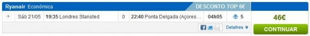 London >> Ponta Delgada