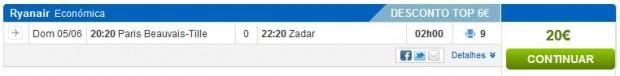 Pariz >> Zadar