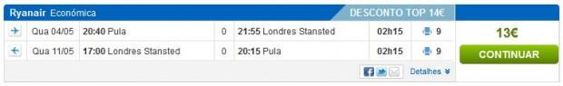 Pula >> London >> Pula