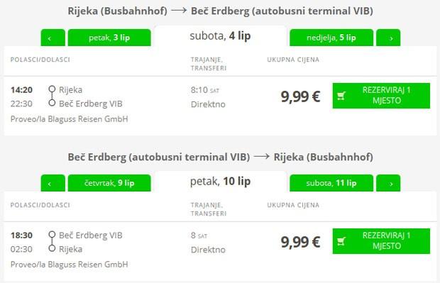 Rijeka >> Beč >> Rijeka
