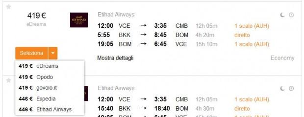 Venecija >> Colombo + Bangkok >> Mumbai >> Venecija
