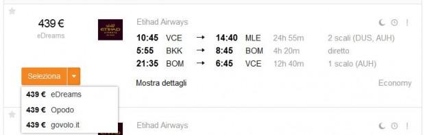 Venecija >> Male + Bangkok >> Mumbai >> Venecija