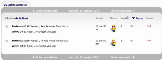 Venecija >> Napoli