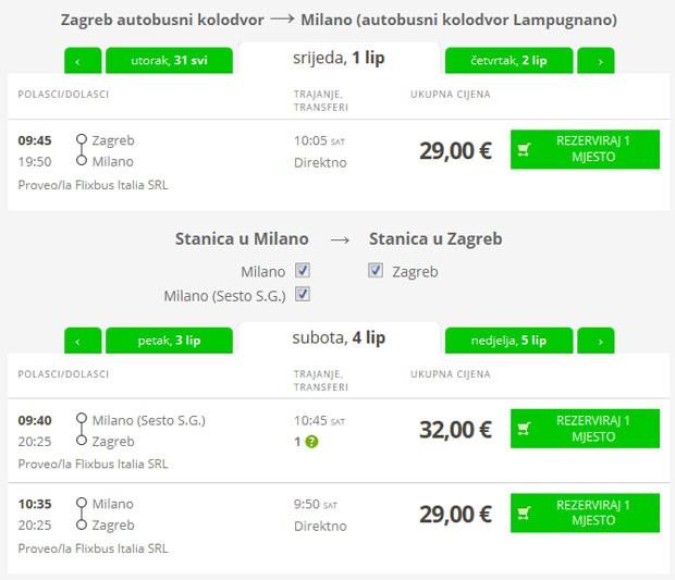 Zagreb >> Milano >> Zagreb